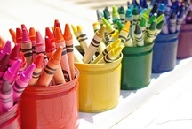 Kids {craft closet} / Redecorating Amelia's craft closet. Looking for bright girly colors and great organization tips!