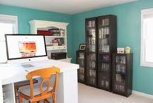 Home {craft room} / http://mydirtyaprons.blogspot.com/2013/10/before-after-craft-room.html