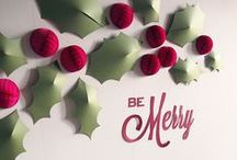 Deck the Halls / Beautiful modern Christmas decorations and DIY projects for the holidays.
