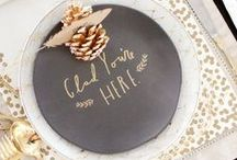 Thanksgiving Celebrations / Thanksgiving celebrations that inspire us. A collection of Thanksgiving ideas for place settings, centerpieces, favors, and table decorations.