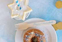 Hanukkah Party / Everything we love about Hanukkah and the celebration of the Festival of Lights. A collection of recipes, Hanukkah party ideas, gifts, and more.