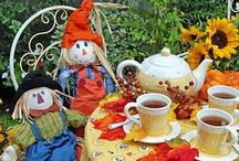 Fall In My Garden / I am an artist, gardener, photographer and blogger.  This is where I create one of my favorite seasons in my Southern California garden with the use of bright Fall colors, pumpkins, scarecrows and whimsical touches of my art.