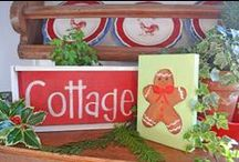 Christmas Cottage / Artist, photographer, gardener, flea market shopper and lover of all things old and worn sharing my love of Christmas decorating in my home, garden and other cottages. www.mypaintedgarden.com