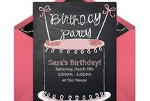 Free Party Invitations / A selection of our favorite free invitation templates for birthdays, holidays, and celebrations. So easy to personalize and send online.