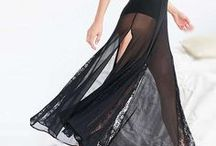 SHEER AND LACE DRESSES / sheer and lace fabric dresses
