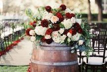 Red, Rose, & Rustic Wedding / Coordinating a wedding theme using three ideas: rustic, red, & roses.
