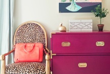 Campaign Furniture / from wall flower to focal point with a splash of color