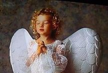 """Cherubs and Angels / """"We are each of us in this world an angel with only one wing. In order to fly we must embrace each other."""" / by Janine Renberg"""