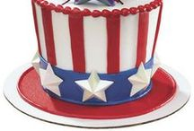 Red, White and Blue / Stars and stripes aren't just for Fourth of July cakes. Create red, white, and blue cake designs for any patriotic occasion from Memorial Day and Labor Day to Election Day and more. / by DecoPac Inspirations and Cake Ideas