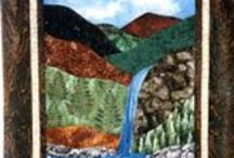 Waterfall Quilts At KayeWood.com! / Kathie Alyce is a designer of quilt patterns, The Flip Flop Block curved template, beautiful landscape patterns, lectures, and classes. Kathie has been creating, designing, and teaching quilting for the past 20 years. Kathie is working on a series of landscape wallhangings, painting backgrounds, and creating machine-worked trees. She welcomes and enjoys commission work. All quilts are 100% cotton and with cotton or poly batting.  / by KayeWood.com