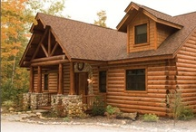 Hybrid Log by Dickinson Homes / A collection of Hybrid Log & Timber Frame pictures and details designed and built by Dickinson Homes