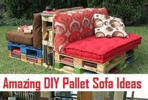 Wood Pallets / Find creative and cool designs you CAN do with Wood Pallets! Wood Pallets are the new craze that are inexpensive and create beautiful designs for your home and yard.