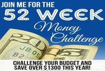 52 Week Money Challenge / Join the 52 week money challenge where you save a little money each week to save over $2000 at the end of the year. Plus great tips on how to save weekly, 52 weekly savings series, 52 week challenge printable and other 52 week challenge resources.