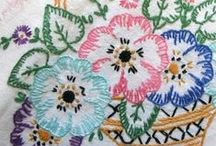 Embroidery Flowers and Vines / by Bonnie Richards