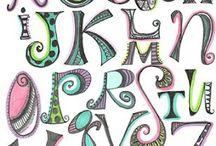 {lettering}