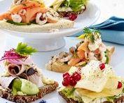 Sandwich and Smørrebrød / Open face sandwiches, crustini, canapées.