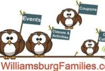 www.WilliamsburgFamilies.com / Find things to do in Williamsburg VA.  Our site Calendar and Seasonal Events pages will keep you busy as a visitor or local.  There are so many things to do in Williamsburg! www.WilliamsburgFamilies.com