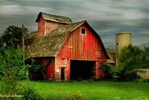 Barns...country places / by Sandy Brewster