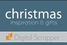 Holiday Inspiration: Christmas / Sharing craft ideas made with scrapbooking in mind - gift albums, items made from scrapbooking products, all to bring about joy for the holidays.  www.digitalscrapper.com