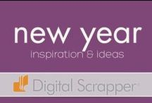 Holiday Inspiration: New Year / Adding a sparkle to your New Year with ideas and inspiration from the Digitalscrapper.com team. Happy Wishes for a New Year!