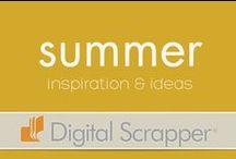 Seasonal Inspiration: Summer / Summer layouts, beach layouts, amusement park layouts, vacation layouts, roadtrip layouts