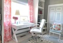 Home Office Ideas / Working at home has its benefits!  I love these ideas.