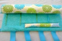 travel organizers / jewelry rolls, pouches to make travel easier!