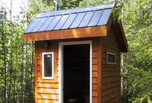 Outdoor Water Closets / Or as we say in my neck of the woods:  Outhouses