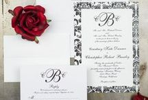 Damask Wedding / There are so many ways to incorporate a Damask pattern into your wedding!  Starting with your invitations.