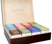 Tea presenter | Wooden tea box / Collection of elegant wooden boxes to display Veertea tea in the hotel and on the buffet. Great as an elegant present!