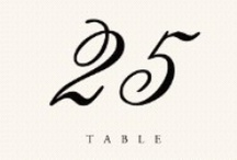 Table #'s / by Fabaliz Events