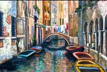 my paintings-Italy and France / by Connie Logan