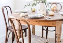 Dining Room. / Farmhouse and Vintage Inspired Home Decor ideas for your Dining Room.