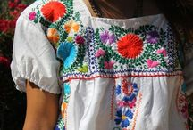 Mexican Embroidered Dresses / I'm hooked on vintage style embroidery and Mexican dresses capture this beautifully. Perfect beach hut wear.