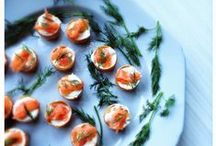 Canapes - Stress Free / Seriously easy canapes that allow you to serve and smile.  A real big wide mouthed smile.