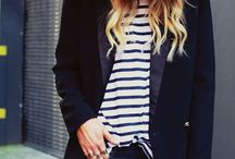 Stripes Fashion / Big stripes, thin stripes.  I love it all.