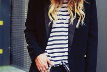 Stripe Fashion / Big stripes, thin stripes.  I love it all.