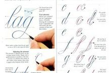 Calligraphy / calligraphy, handwriting / by Debbie Mayfield