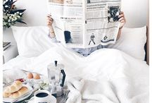 Breakfast in Bed / Romantic, cozy or lazy.  Whichever make a feast and relish in the moment.