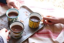 Hot Chocolate / When it's cold outside and you're feeling low, a cup of hot chocolate will heal.  Truly hot chocolate cupped in your hands will heal you - or not but you'll feel a bit better.