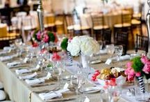 Tablescapes / Tablescapes - Centerpieces, Gold, Candles, Chargers, Linens, Table Runner, Mixed Metals, Menus