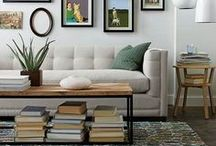 Living in Rooms / This is one of my favorite boards as I LOVE designing gorgeous rooms where we sit, read, watch, day dream--just enjoy a little splendid down time in. Some of these designs are from Space Case and others are inspirations to me.