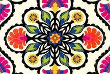 patterns & palettes / Stunning color palettes and bold, eye-catching patterns.
