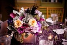 Low Centerpiece Designs / Event or Reception centerpiece floral designs; wedding flowers