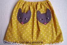 Kids cloth-skirts / by como como
