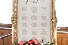 Wedding Seating Charts / Mirros, Windows, Frames, Boards