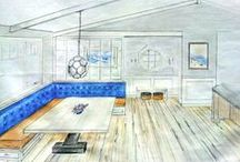 Space Case Interior Design / We've pinned a collection of our design concepts, artwork, room, home and landscape designs, created by Kamaren Henson and Sharon Goddard, Principal Designers at Space Case Design. Space Case is a full-service interior design firm specializing in contemporary, family, pet and earth-friendly design and is dedicated to bringing joy to the lives of people through the transformation of their interior spaces.