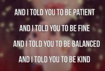 Song Lyrics / by Destiny Cano