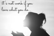 it's not work if you love what you do / Back when I was in fitness, a nanny & a barista!