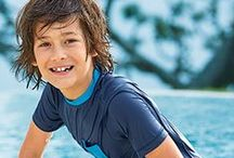 Swim for Kids / Kids Swim with Quick-dry with UPF50 for extra sun protection for your amazing family holiday / by Lands' End UK